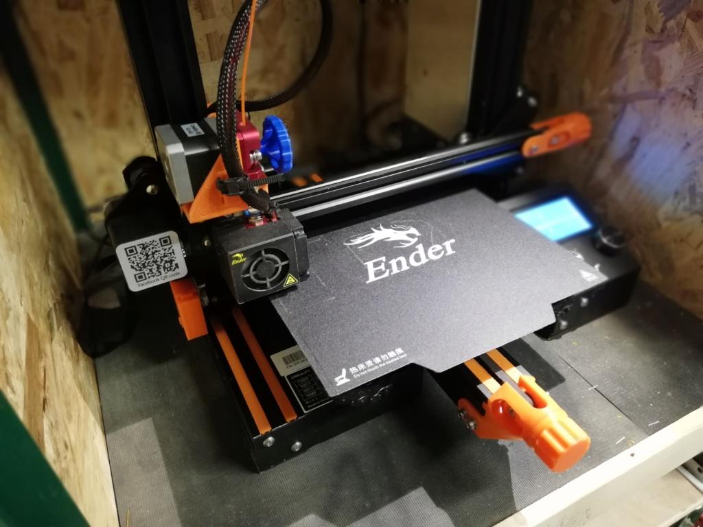 Ender 3 : modification pour un réglage du plateau facilité Img_2060