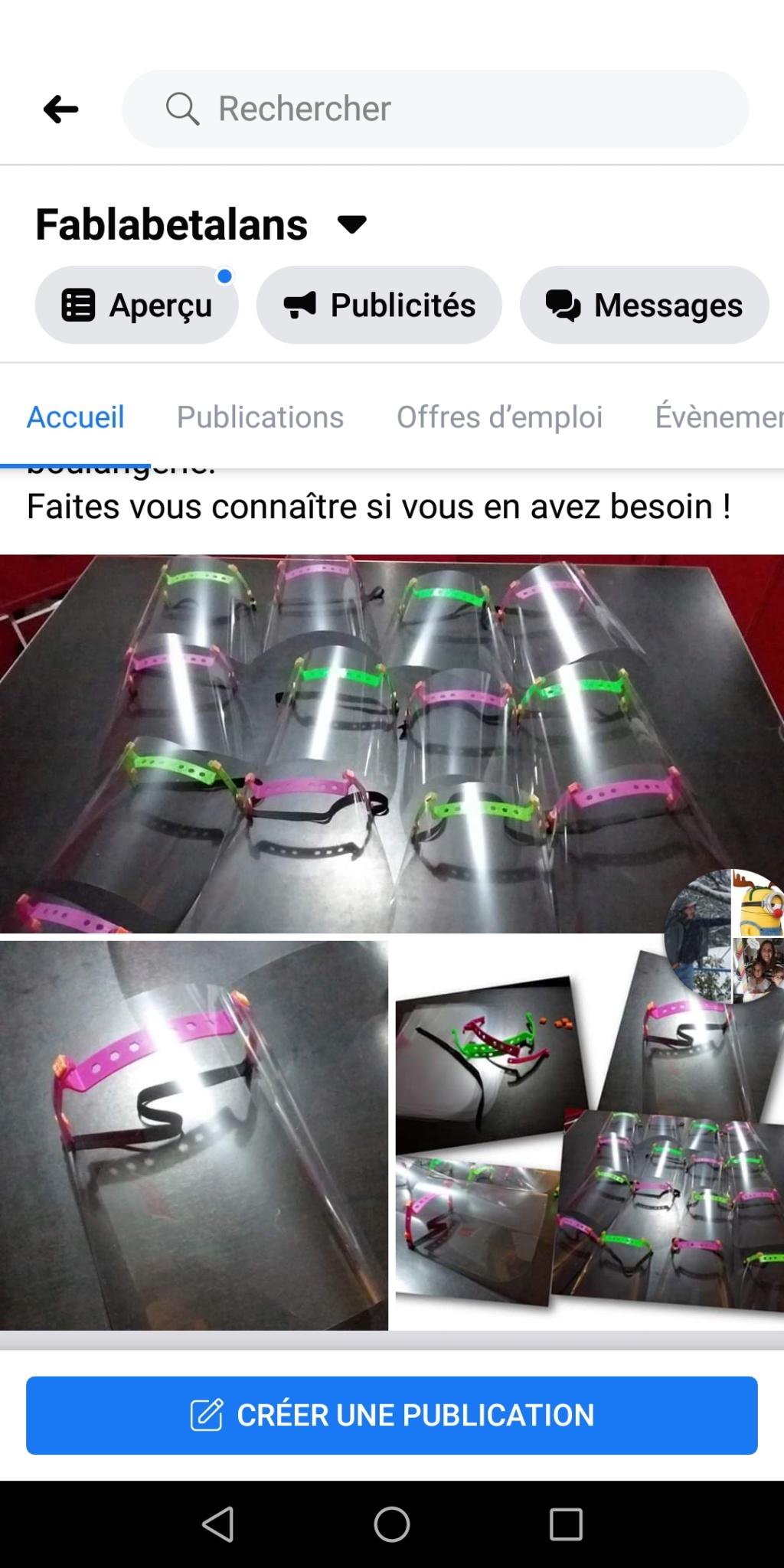 Lutte contre le COVID 19 Fabrication de visières Screen15