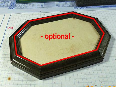 Dioramen- / Vignettenboden aus einem Bilderrahmen Option10