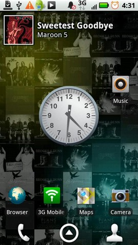 [LIVE WALLPAPER] Living Music Wallpaper : Vos jacket mp3 en fond d'écran animé [Gratuit] Screen10