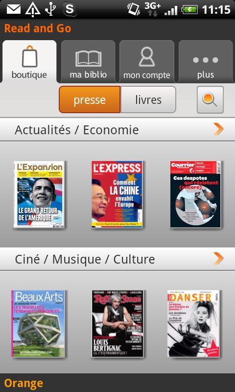 [SOFT] READ AND GO : Kiosque Numérique par Orange [Gratuit] Ss-0-310