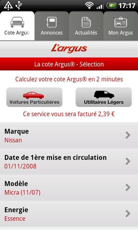 [SOFT] L'ARGUS : L'application pour les cotes des voitures [Gratuit] Ss-0-319