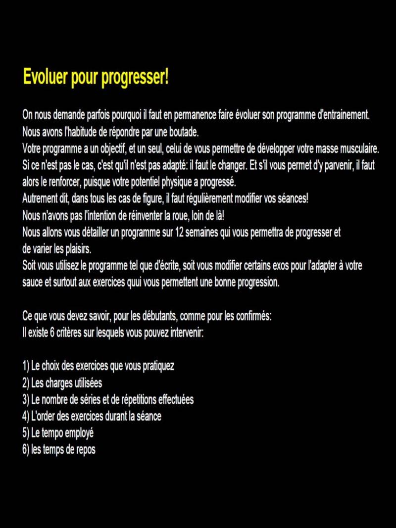 """Programme complet """"Evoluer pour progresser!""""  (en cours) Slide110"""