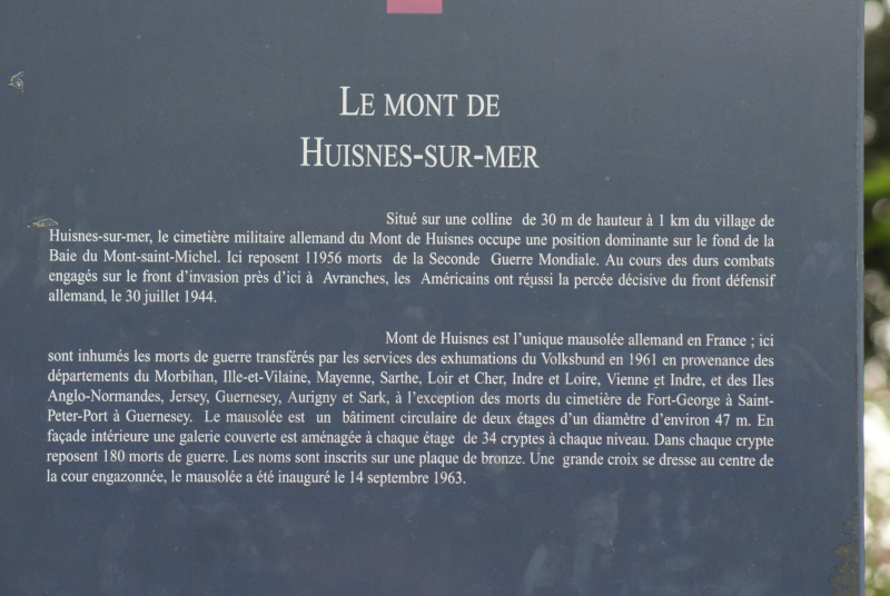 Mausolée allemand Huisnes sur Mer (Normandie) Dsc05913