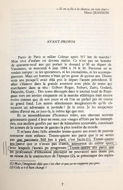 """Gérard ROIG """"DU SEMI MARATHON A 500KM A PIED"""" 510"""