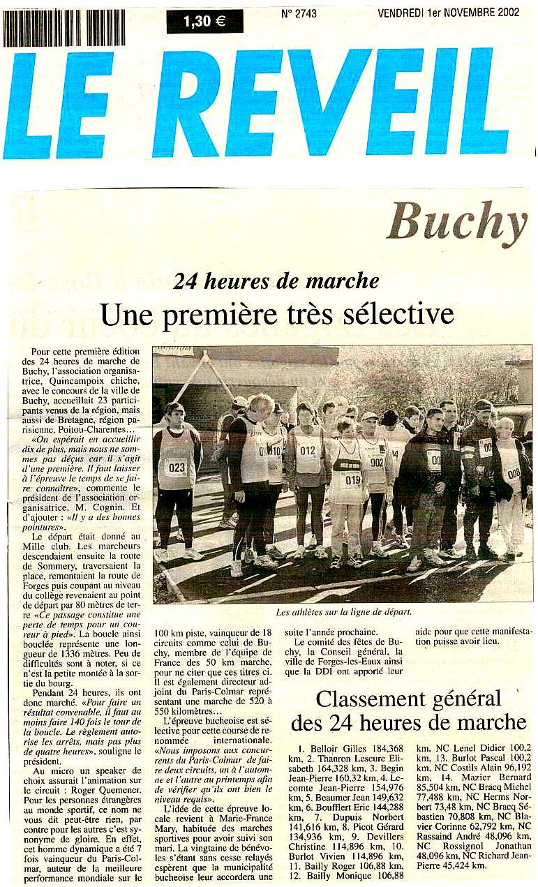 Marie-France MARY (24h de Buchy 2002) est partie Cci18011