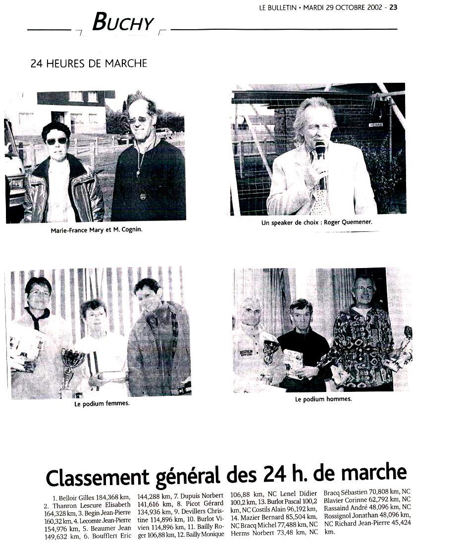 Marie-France MARY (24h de Buchy 2002) est partie Cci18014