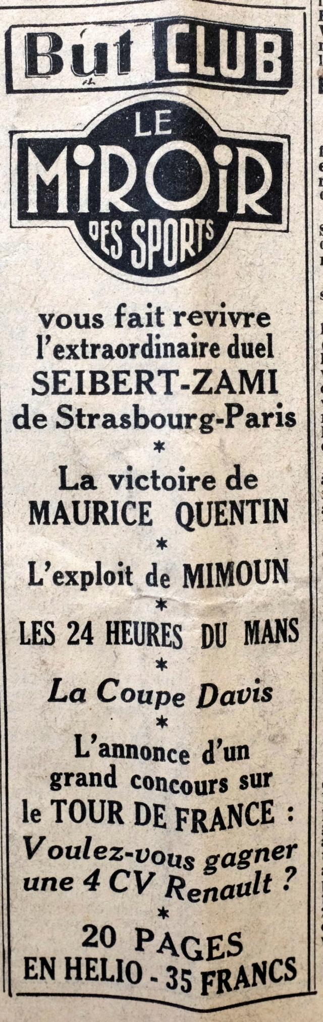 Strasbourg-Paris 1952 Le Parisien Dscf2122