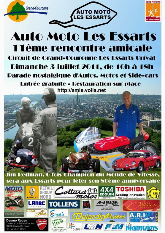 11 eme Rencontre amicale sur le circuit Rouen les Essarts Affich14