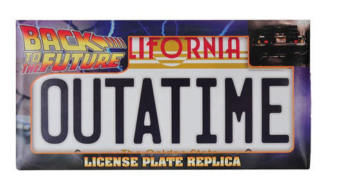 SOLD!!!:  BTTF Signed Mini Poster & License Plate Bttf_p10