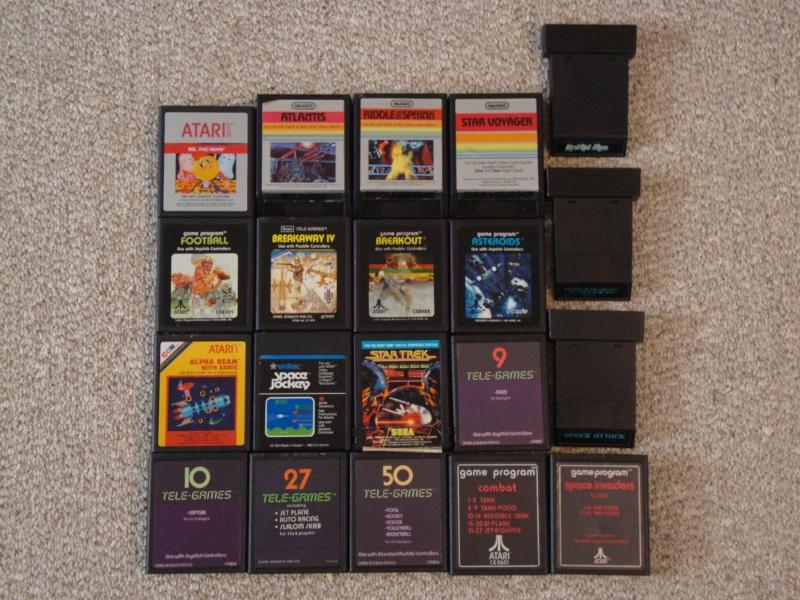 SOLD:  Atari 2600 & Coleco Vision Lot & 27 Games w/ Pics Dsc01118