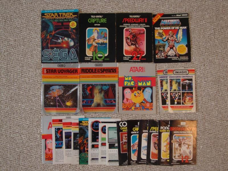 SOLD:  Atari 2600 & Coleco Vision Lot & 27 Games w/ Pics Dsc01119