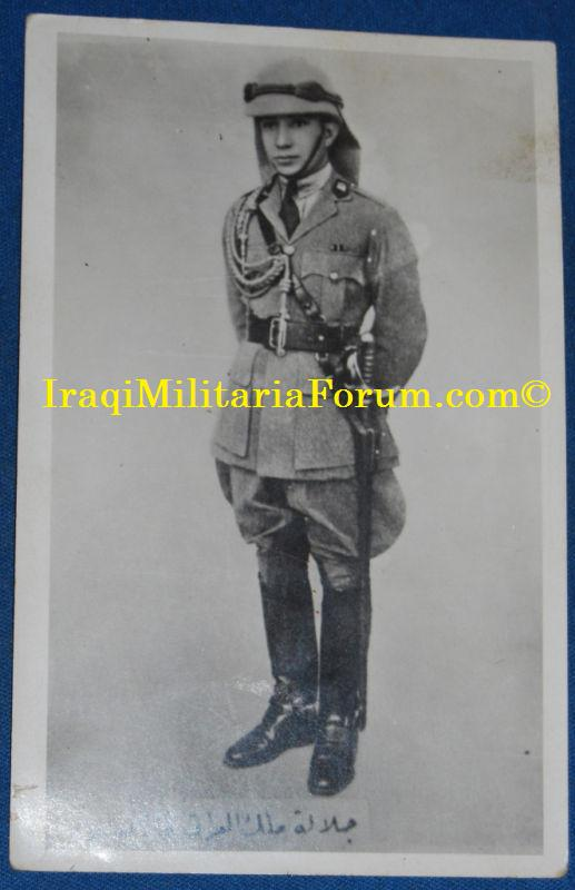 Iraqi King Ghazi Photo Post Card in Uniform 1930's Ghazi110