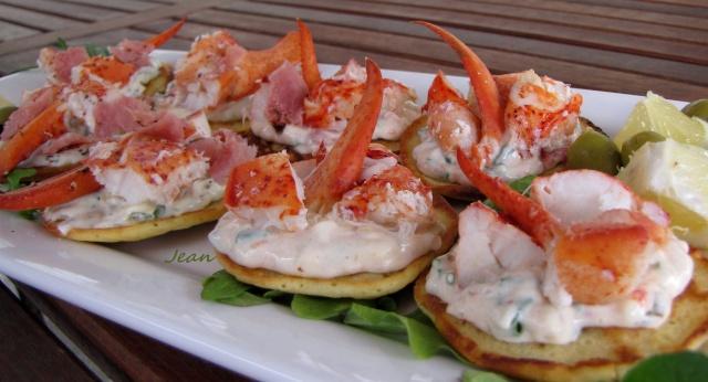 Blinis au homard, 2 variétés. _1_img48