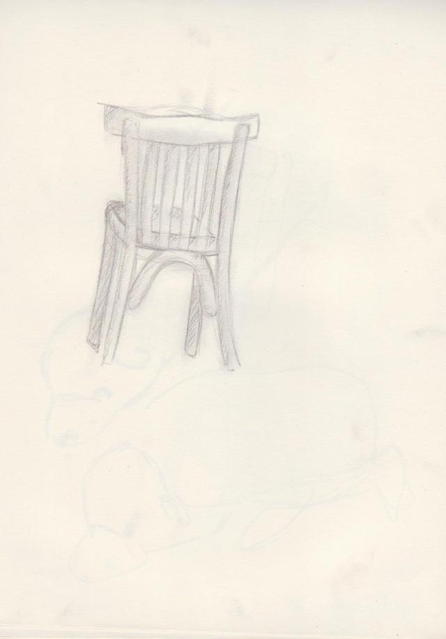 dessins en vracs (bikono) Chaise10