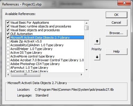 Koneksi Visual Basic 6 (VB6) dengan database MySQL 114