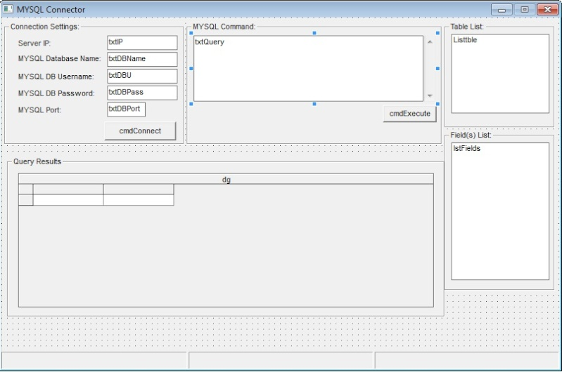 Koneksi Visual Basic 6 (VB6) dengan database MySQL 411