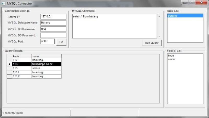 Koneksi Visual Basic 6 (VB6) dengan database MySQL 511