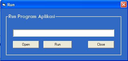 Aplikasi Run Dengan VB6 Run10