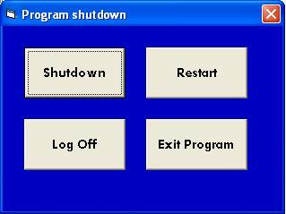 Aplikasi Shutdown,Restart dan log Off di VB6 Shutdo10