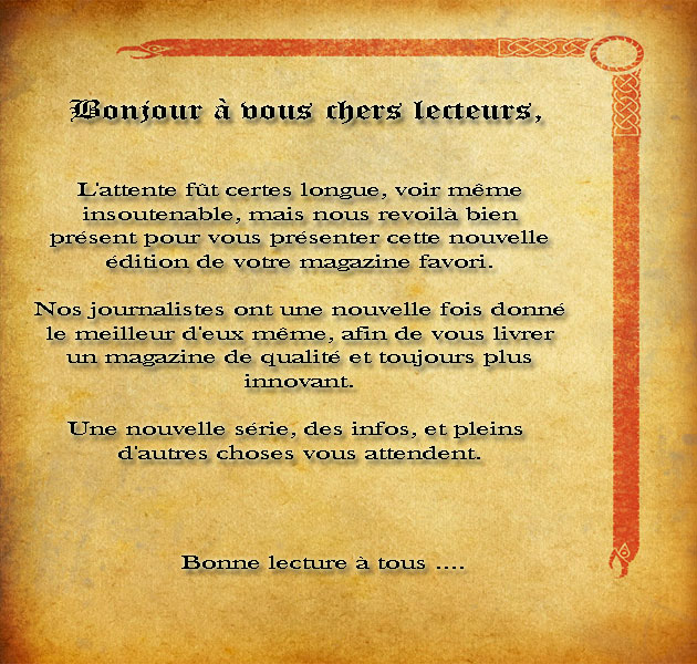 [Journal de Danathor] Le DanaMag Edito10