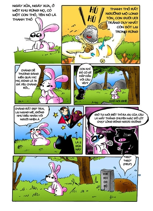 """Truyện tranh """"đười ươi và thỏ """". 111"""