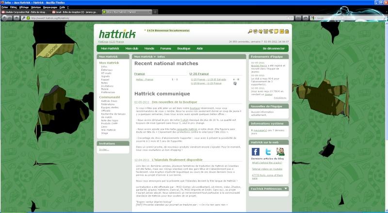 Changement page accueil hattrick Hattri10