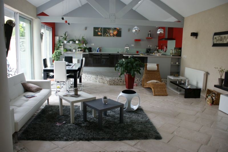 Deco Salon Gris Et Blanc Rouge