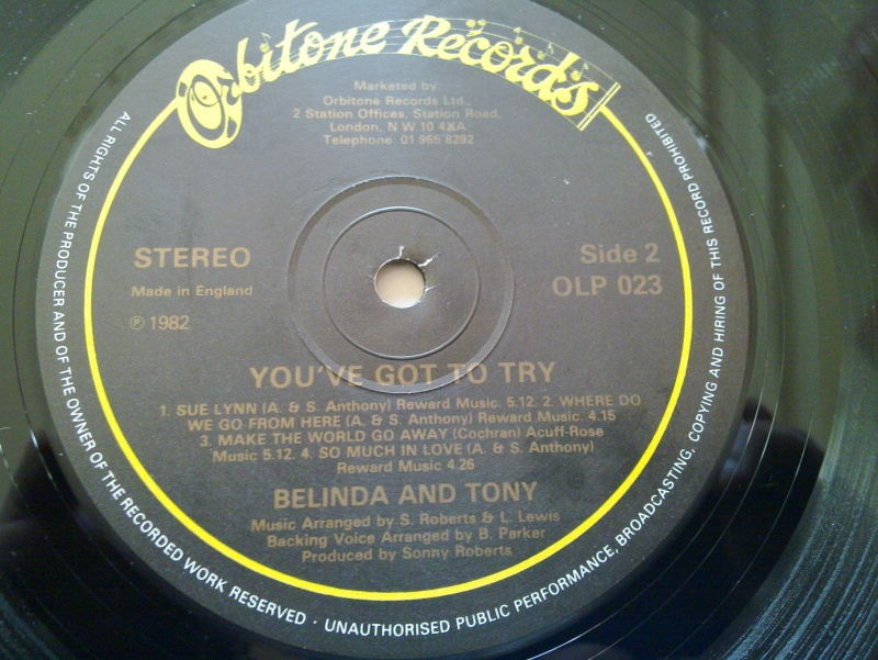 LP BELINDA and TONY - you've got try - orbitone records 1982 20090312