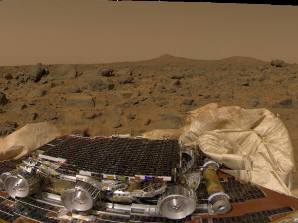 Mars - Lander and Rover Images Marspa13