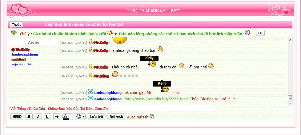 [Share]Chatbox 9xstudio convert từ tinhgia3sv   Lala10