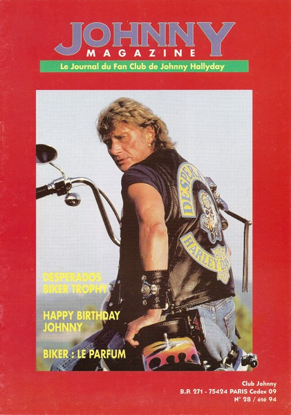 COUVERTURES DES 'JOHNNY MAGAZINE' ( 1985 - 1997 ) Johnny14