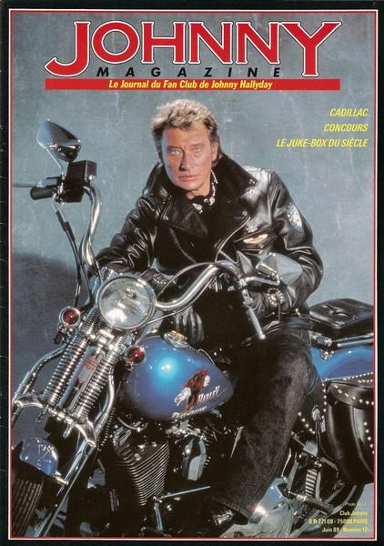 COUVERTURES DES 'JOHNNY MAGAZINE' ( 1985 - 1997 ) Johnny16