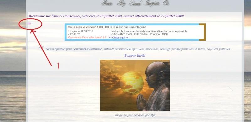 Afficher ou Masquer les widgets du Forum Deroul10