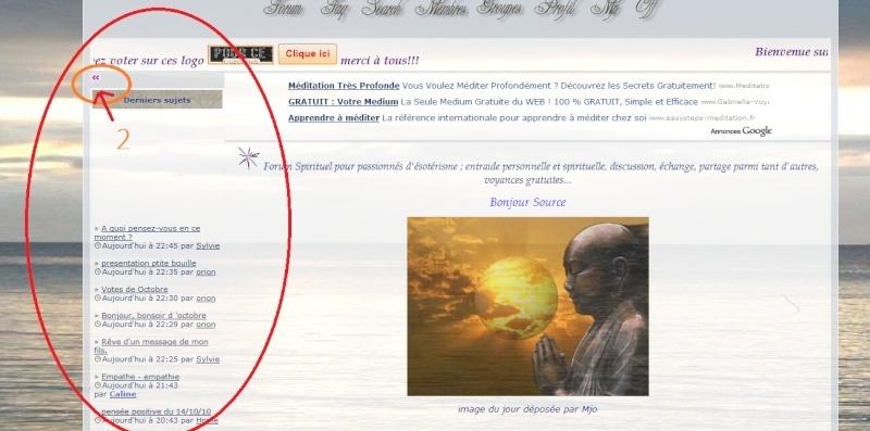 Afficher ou Masquer les widgets du Forum Widget10