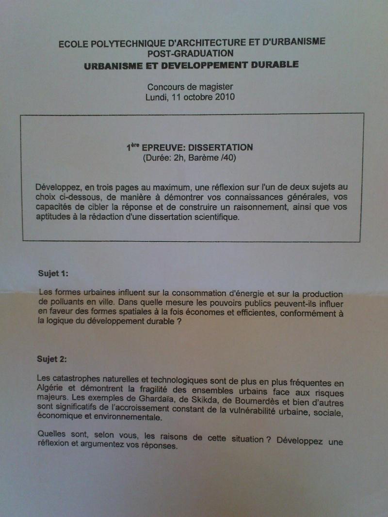 EPAU PG 2010/2011: sujets et echos.... Dsc00713
