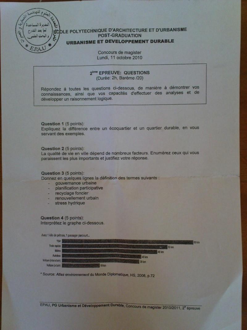 EPAU PG 2010/2011: sujets et echos.... Dsc00714