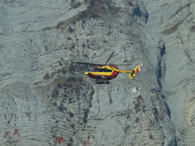 EC145 en sauvetage en Chartreuse Pb013610
