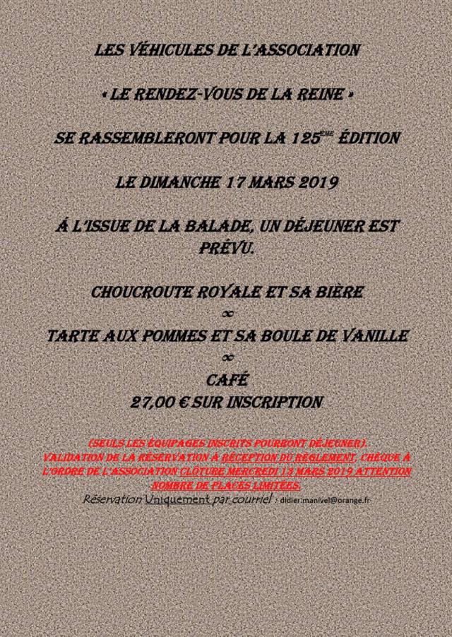 125ème Rendez-Vous de la Reine - Rambouillet le 17 mars 2019 Image015