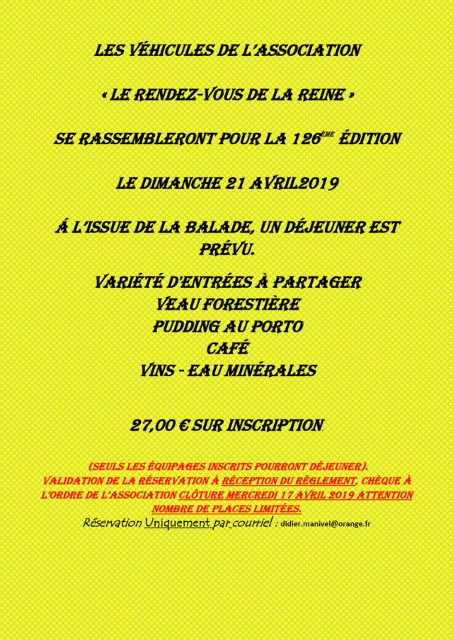 126ème Rendez-Vous de la Reine - Rambouillet le 21 avril 2019 Image016