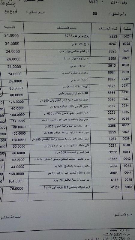بيان بمنتجات ماي واي التي توفرت اليوم الاثنين 5-11-2018   بفرع الشرقيه 00000014