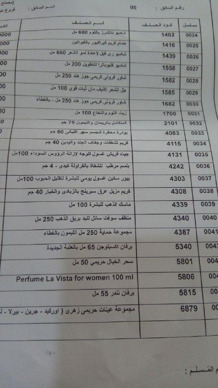 بيان بعربية المنتجات اليوم الثلاثاء 28-8-2018 الي فرع كفر الشيخ 1337