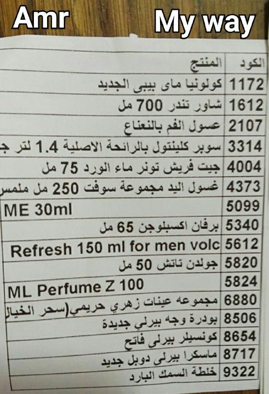 منتجات توفرت اليوم الخميس 19-7-2018   بفرع دمنهور 1427