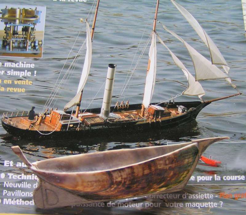 Mise en chantier du St Michel  III en bateau -moule M110