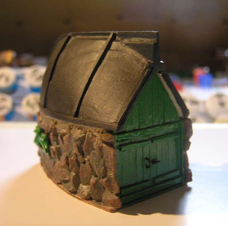 Les cabanes de Pot Rhu  toits en coque de moule Rhu1110