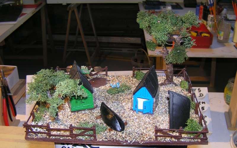 Les cabanes de Pot Rhu  toits en coque de moule Rhu1111