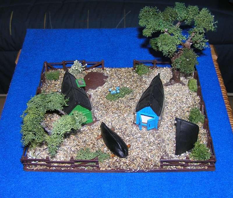 Les cabanes de Pot Rhu  toits en coque de moule Rhu1210