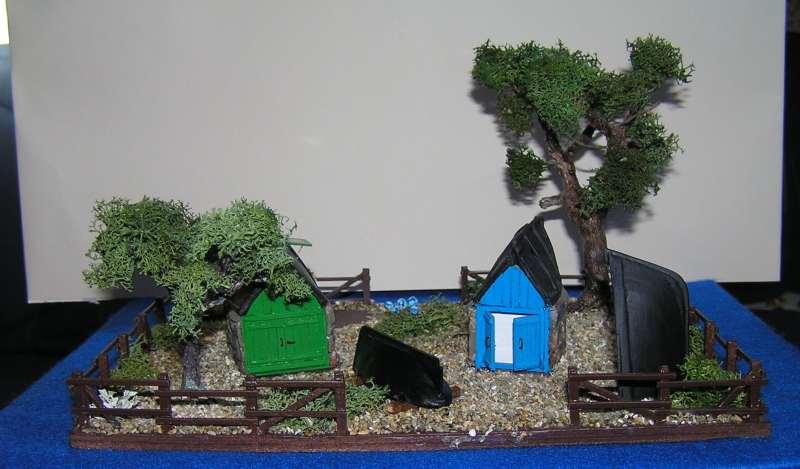Les cabanes de Pot Rhu  toits en coque de moule Rhu1311