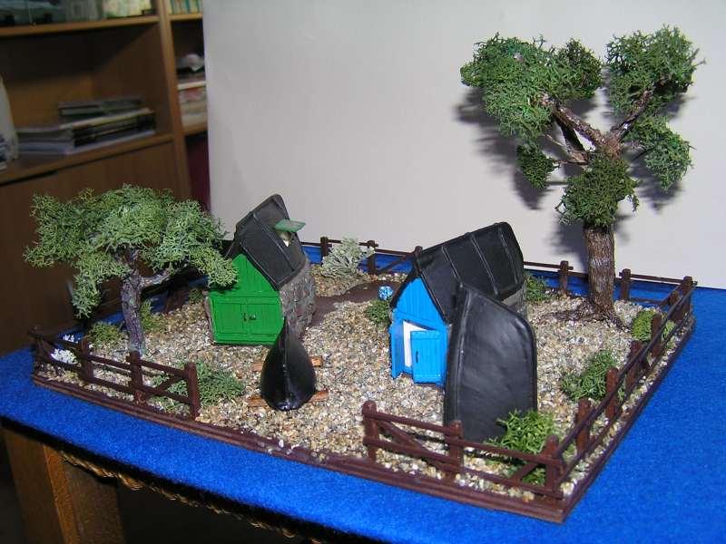 Les cabanes de Pot Rhu  toits en coque de moule Rhu1410