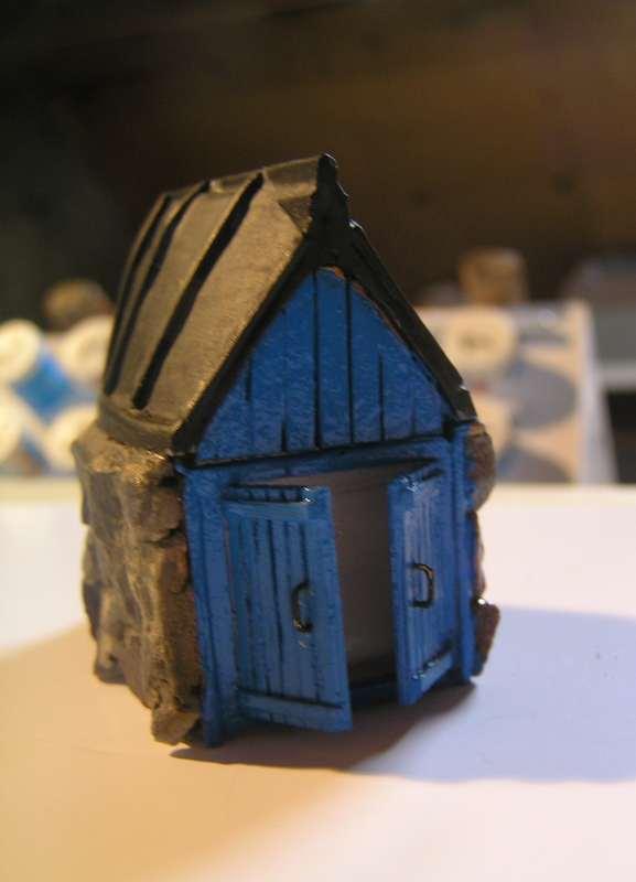 Les cabanes de Pot Rhu  toits en coque de moule Rhu810